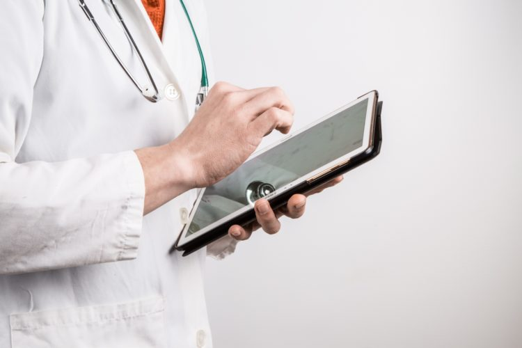 Medical Professionals And Patients Can Complete Medical Educational Software Assessments On Tablet Devices